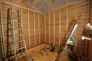 Способ изготовления каркаса под вагонку на стенах бани