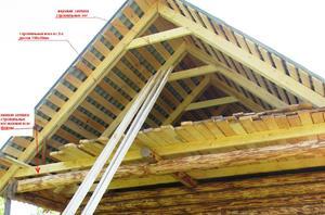 Стропила крыши бани - особенности конструкции