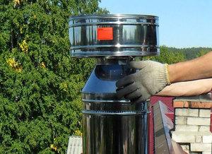 Способ улучшения тяги печи с помощью установки дефлектора на дымоход