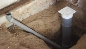 Обустройство канализации бани
