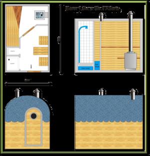Баня в ГАЗЕЛи - схема