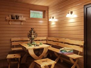 Рекомендации и описание обустройства бани внутри