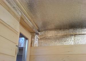 Утепление потолка в бане, технология и материалы