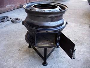 Печка из колесных дисков своими руками фото 281