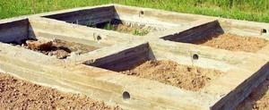 Варианты строительства фундамента