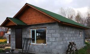 Баня из газоблока проекты