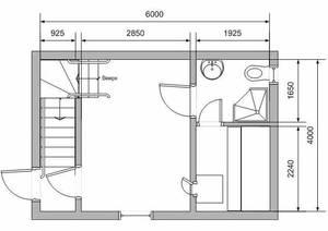 Чертеж бани для строителей