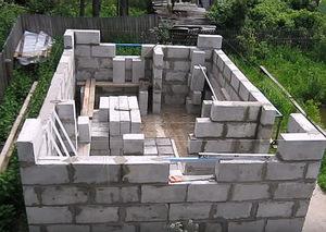 Порядок выполнения работ при строительстве бани из пеноблоков