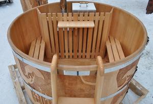 Купель с подогревом на дровах