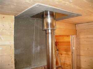 Дымоход в бане через потолок своими руками 234