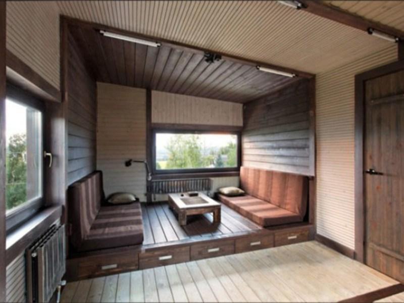 Фото внутренней отделки блок хаусом стен жилых помещений