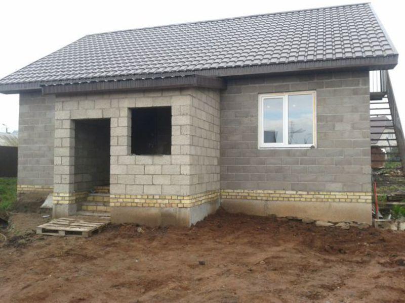 Дом из блока своими руками фото