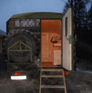 Баня прицеп на колесах