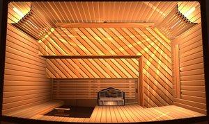 Реечный потолок для сауны