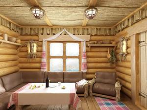 Сауна или баня обязательно имеют удобную комнату отдыха