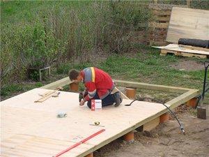 Обвязочные работы во время строительства