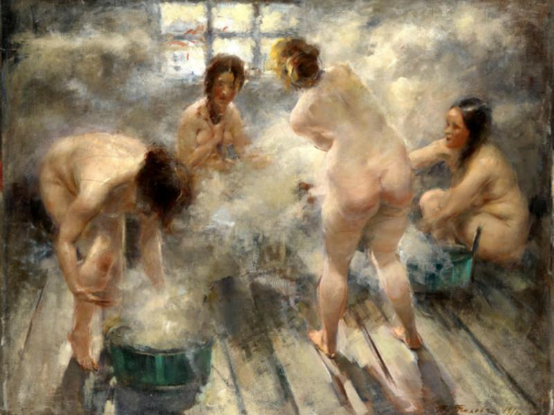Русская баня в фотографиях и картинках в разные времена