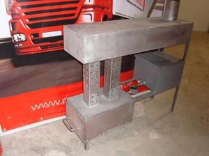 Печь на отработке из стальных листов