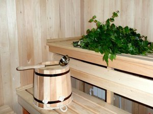 Деревянные пологи в бане