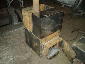 Процесс изготовления банной печи из металла